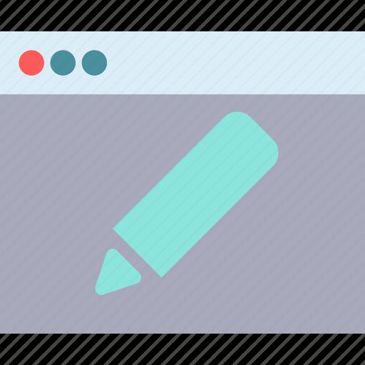 browser, edit, internet, intranet, server, web icon