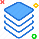 chip, cpu, layers, memory, usage icon
