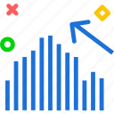 analysis, increase, statistics, stats icon