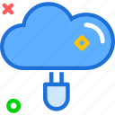 accessplug, adapterin, cloud, connection, electric, online, upload icon