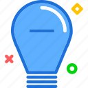 brigthness, lightbulb, minus icon