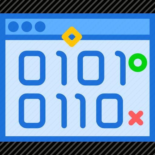 binary, browser, internet, intranet, server, web icon