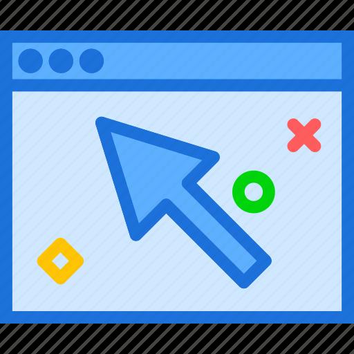 browser, cursor, internet, intranet, server, web icon
