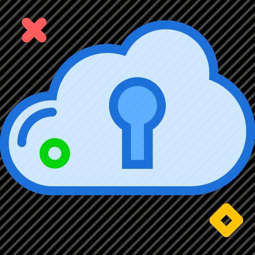 accesskey, cloud, lock, online, safe, unlock, upload icon