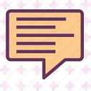 chat, communication, mail, message, text icon