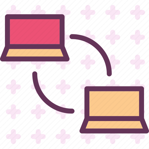 connection, lan, laptop, local, network, pc icon