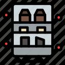 food, freezer, open icon