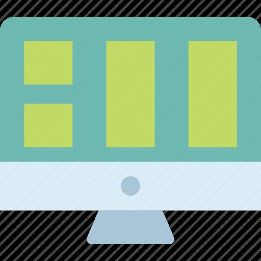 display, layout, monitor, screen icon