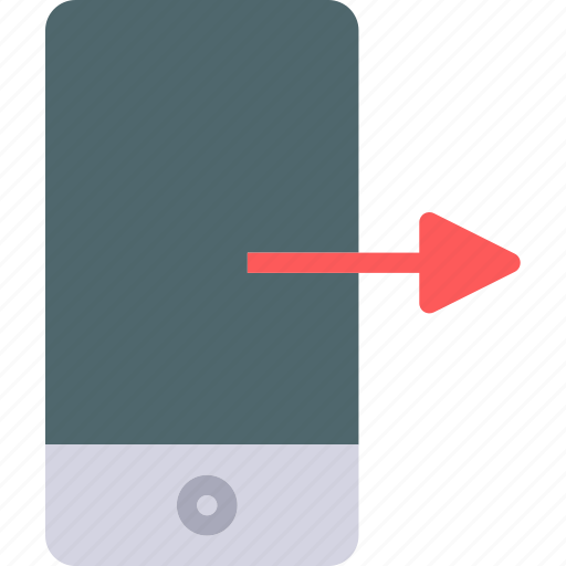 device, gestures, mobile, phone, right, swipe, touch icon