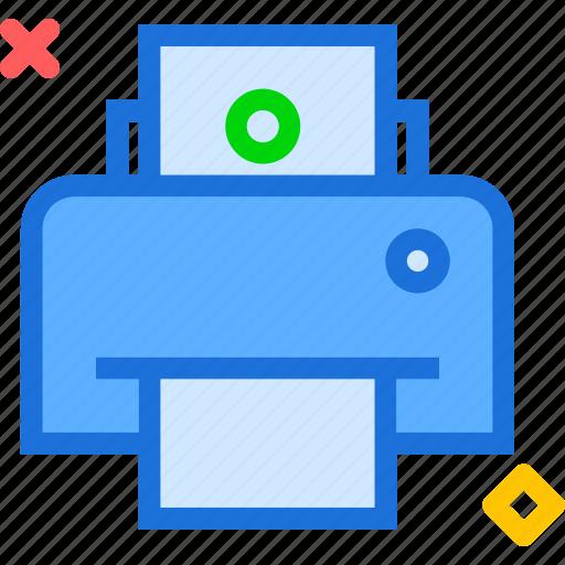 desk, office, paper, printer, text icon