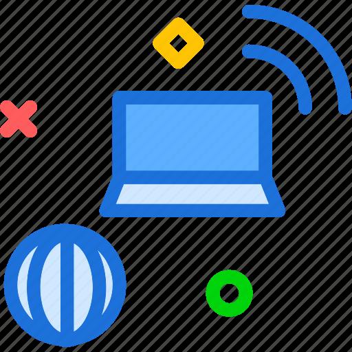device, net, online, wifi, wire, wireless icon