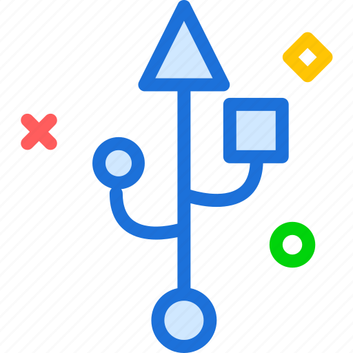 adapterin, connection, electric, memory, plug, stick, usb icon