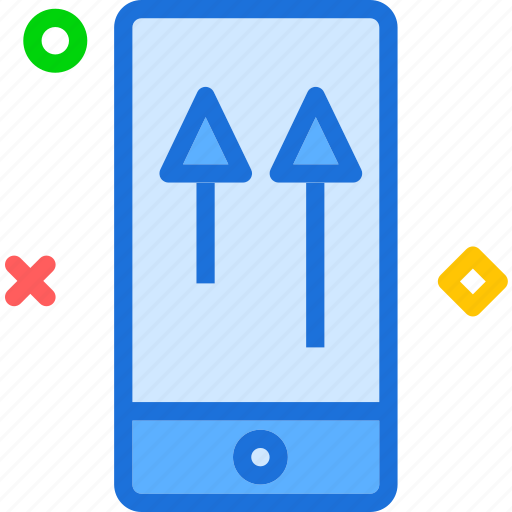 deviceswipe, gestures, mobile, phone, touch, up icon