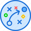 movement, plan, strategy icon