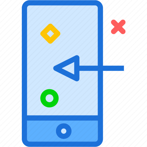 device, gestures, left, mobile, phone, swipe, touch icon