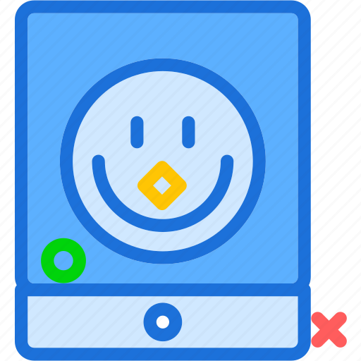 display, ipad, smileyface, tablet, touchscreen icon