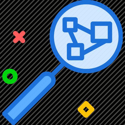 intranet, lan, network, search, web icon