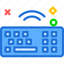 device, key, online, unlock, wifi, wire, wireless icon