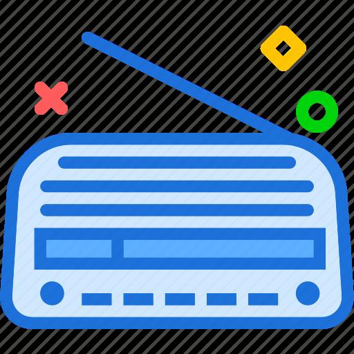 music, old, radio, signal icon