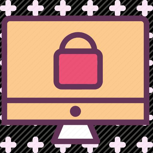 display, lock, monitor, screen icon