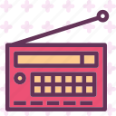 music, old, radio, signal, vintage icon