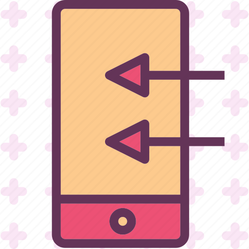 deviceswipe, gestures, left, mobile, phone, touch icon