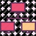 computer, device, intranet, lan, network, pc, web icon