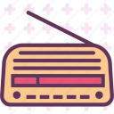 music, old, radio, signal icon