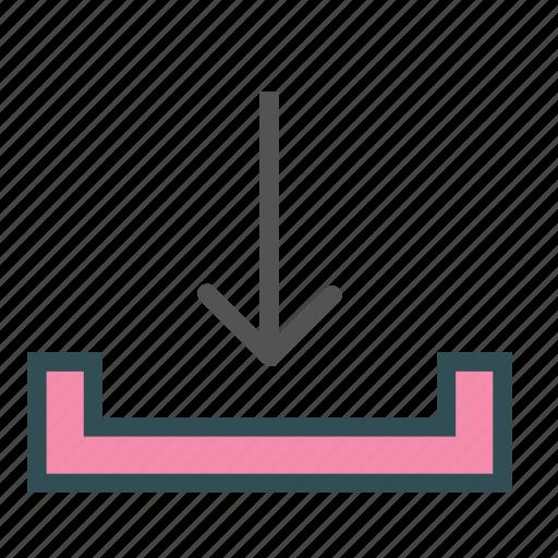 arrow, down, download, store icon