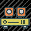 audio, entertainment, media, speakers, system icon