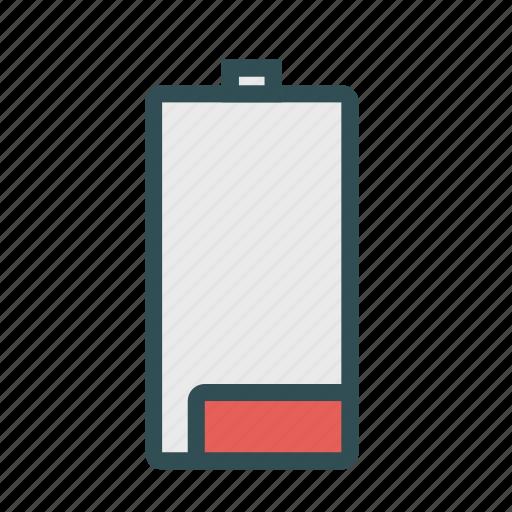 batterie, empty, energy, low, power icon