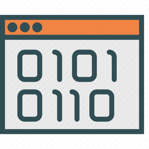 binary, browser, code, data icon