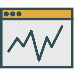 analysis, browser, graph, report icon