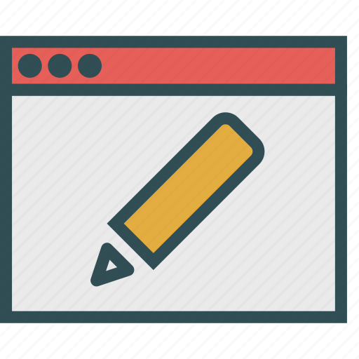browser, draw, edit, pen icon
