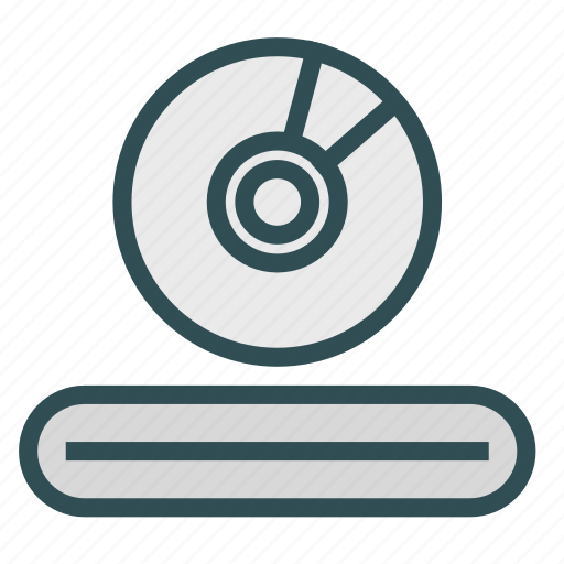 cd, dvd, entertainment, media, player icon