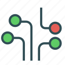 circuit, connection, electrical icon