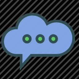 chat, cloud, messenger, social icon