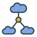 cloud, connection, internet, network icon