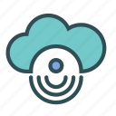 circle, cloud, internet, signal icon