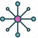 chemical, connection, structure icon