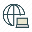 computer, internet, laptop, network icon