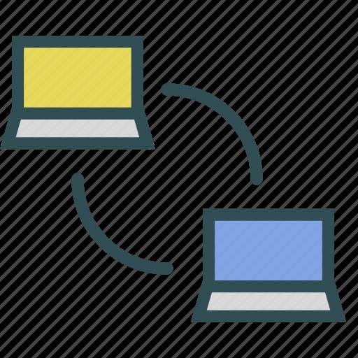 device, laptop, network, portable icon