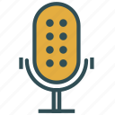 mic, microphone, radio, vintage icon