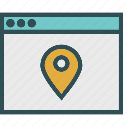 browser, location, mark, pin icon