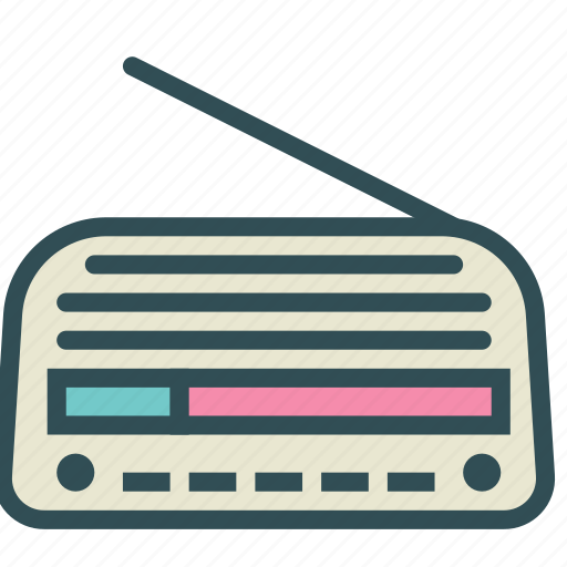 old, player, radio, vintage icon