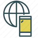 internet, network, phone, smart icon