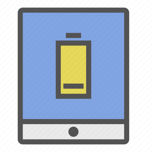 batterie, device, low, portable, tablet icon
