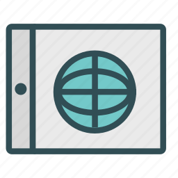 device, internet, network, portable, tablet icon
