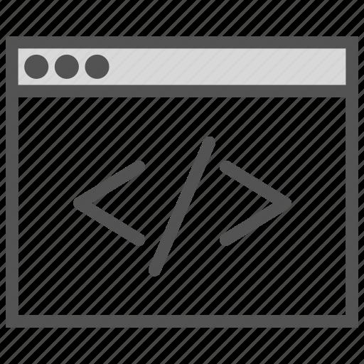 browser, code, language, programming icon