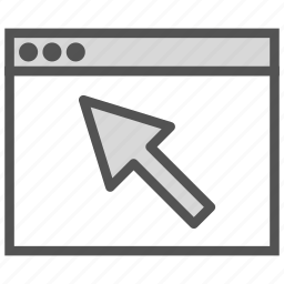 browser, click, cursor, large icon